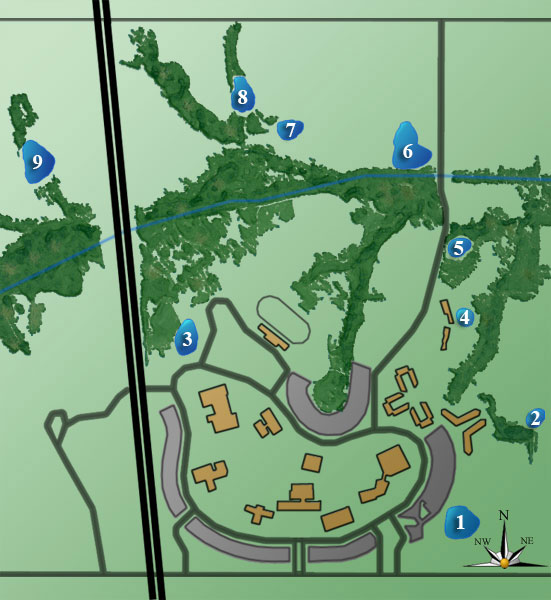 Campus ponds map