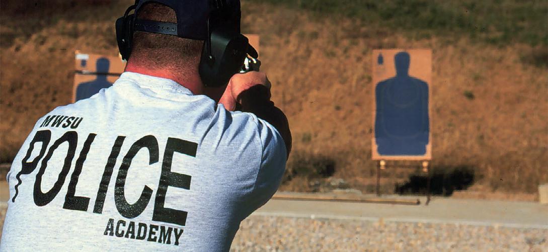 Cadet practicing shooting