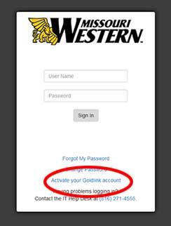 GoldLink screenshot showing clickable link