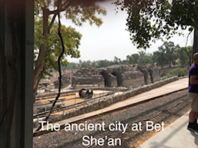 The ancient city at Bet She'an