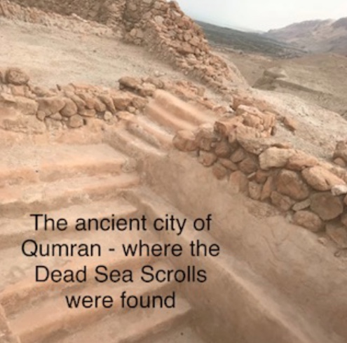 The ancient city of Qumran - where the Dead Sea Scrolls were found