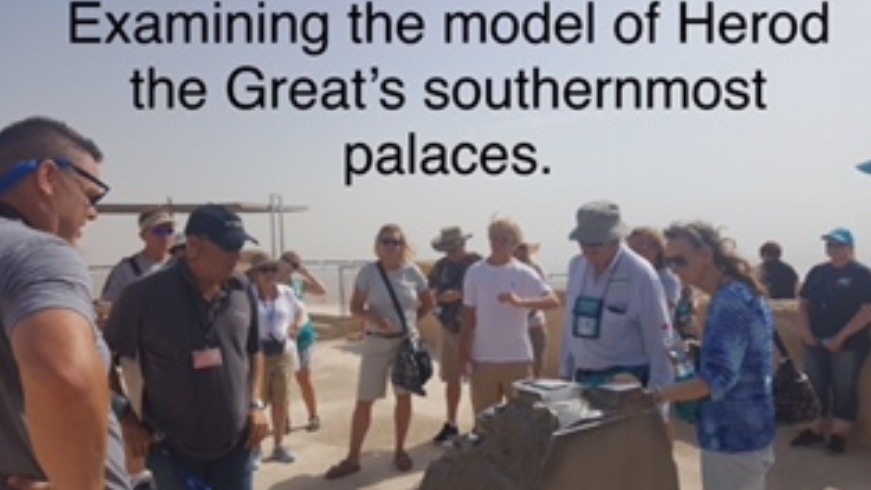 Examining the model of Herod the Great's southernmost palaces