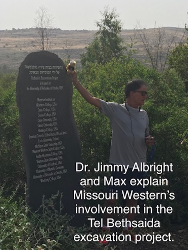 Dr. Jimmy Albright and Max explain Missouri Western's involvement in the Tel Bethsaida excavation project.