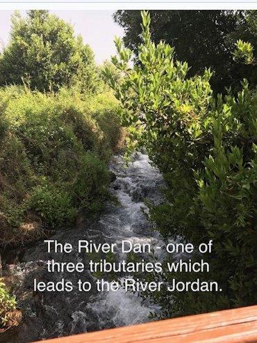 The River Dan - one of three tributaries which lead to the River Jordan