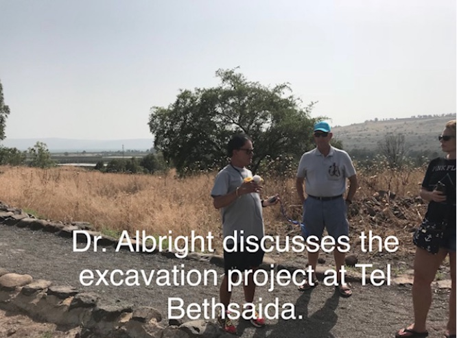 Dr. Albright discusses the excavation project at Tel Bethsaida