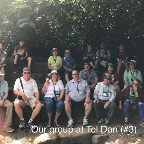 Alumni group at Tel Dan