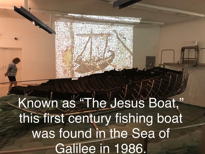 "Known as ""The Jesus Boat,"" this first century fishing boat was found in the Sea of Galilee in 1986."