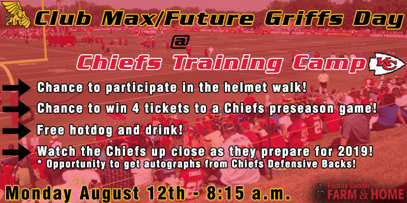 Club Max/Future Griffs Day at Chiefs Training Camp
