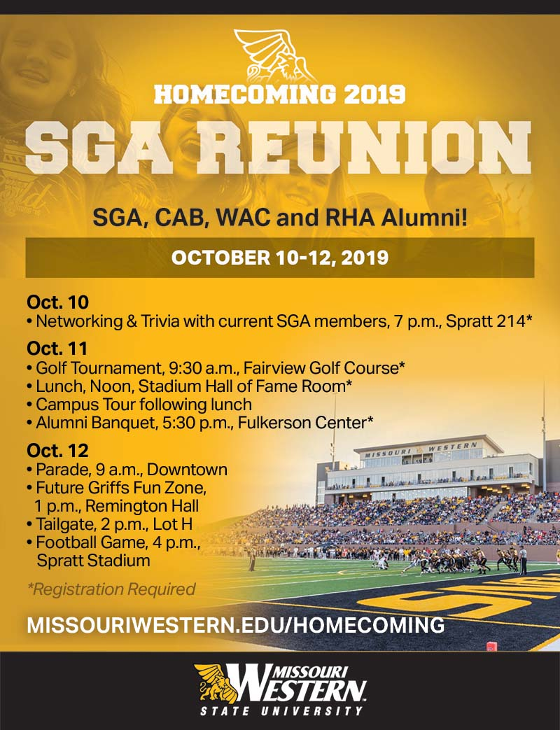 SGA Reunion Oct. 10-12