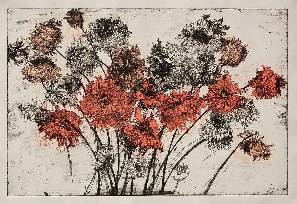 Fall Dahlias by Helen Gotlib