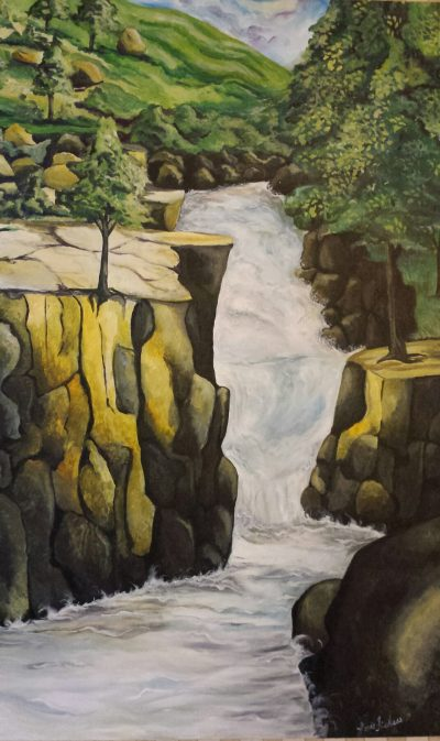 Vacation at Shell Falls by Lorie Fickess