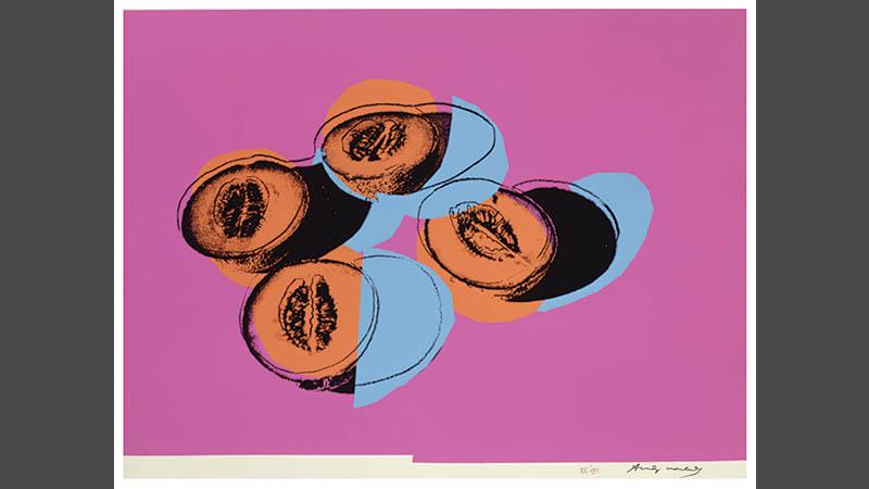 Image information: Andy Warhol, Canteloupes, 1979, Screenprint