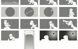 Storyboard illustration.
