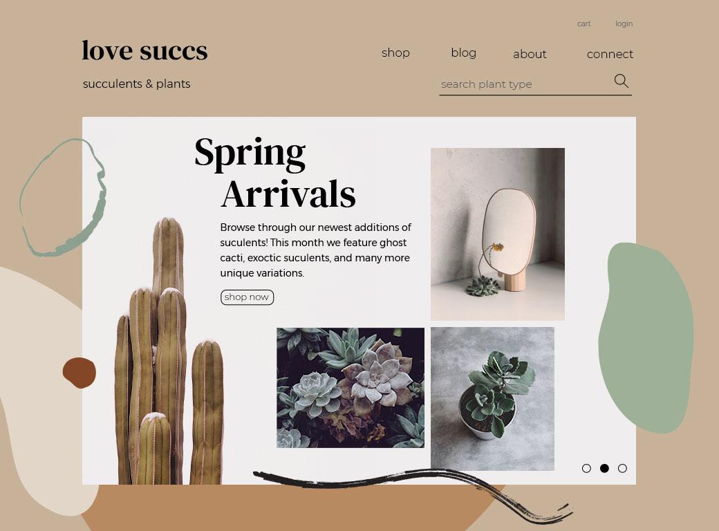 a website sample for a succulents website