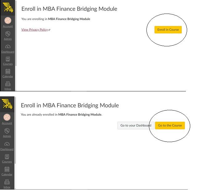Screen shots of self-enrollment screen