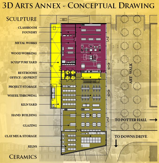 3D Arts Annex - Conceptual Drawing