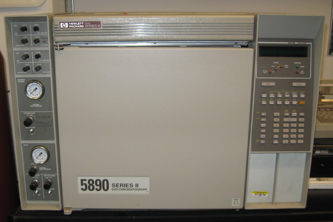 Three HP 5890 Gas Chromatograph Systems with TCD and FID detectors