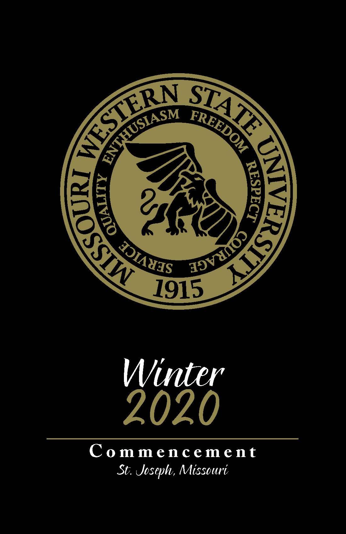 Winter 2020 Commencement Program