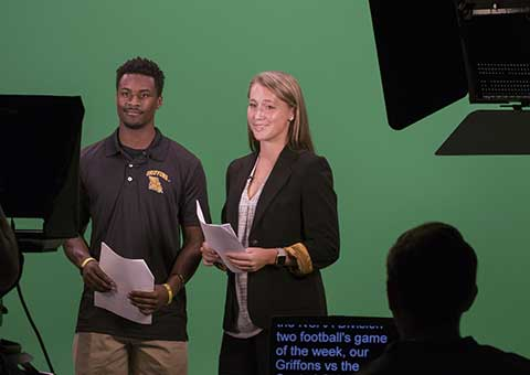 Students report news on Griffon Update