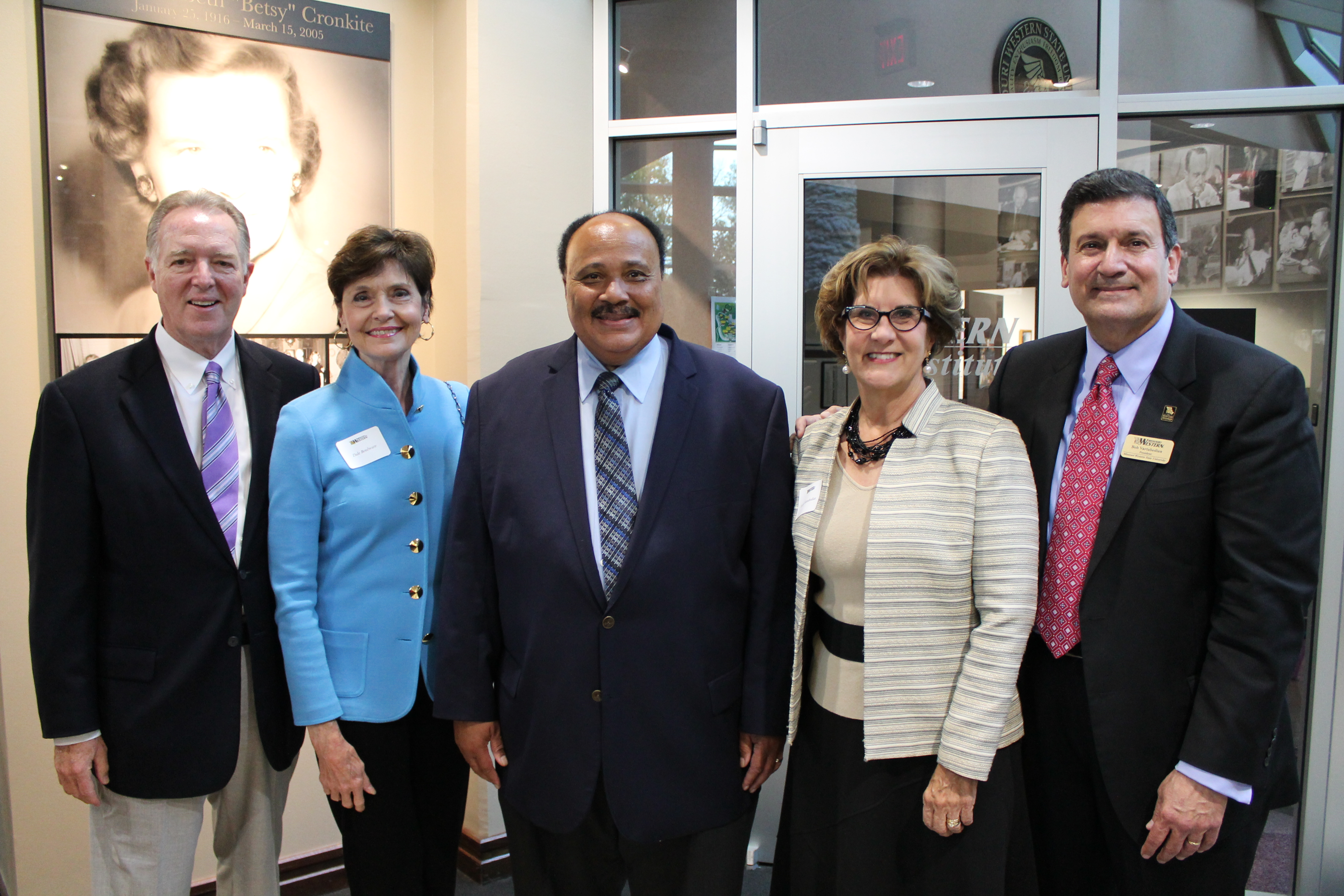 Dan and Dale Boulware, Martin Luther King III, Drs. Laurel and Bob Vartabedian.