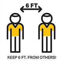 Keep 6 ft from others