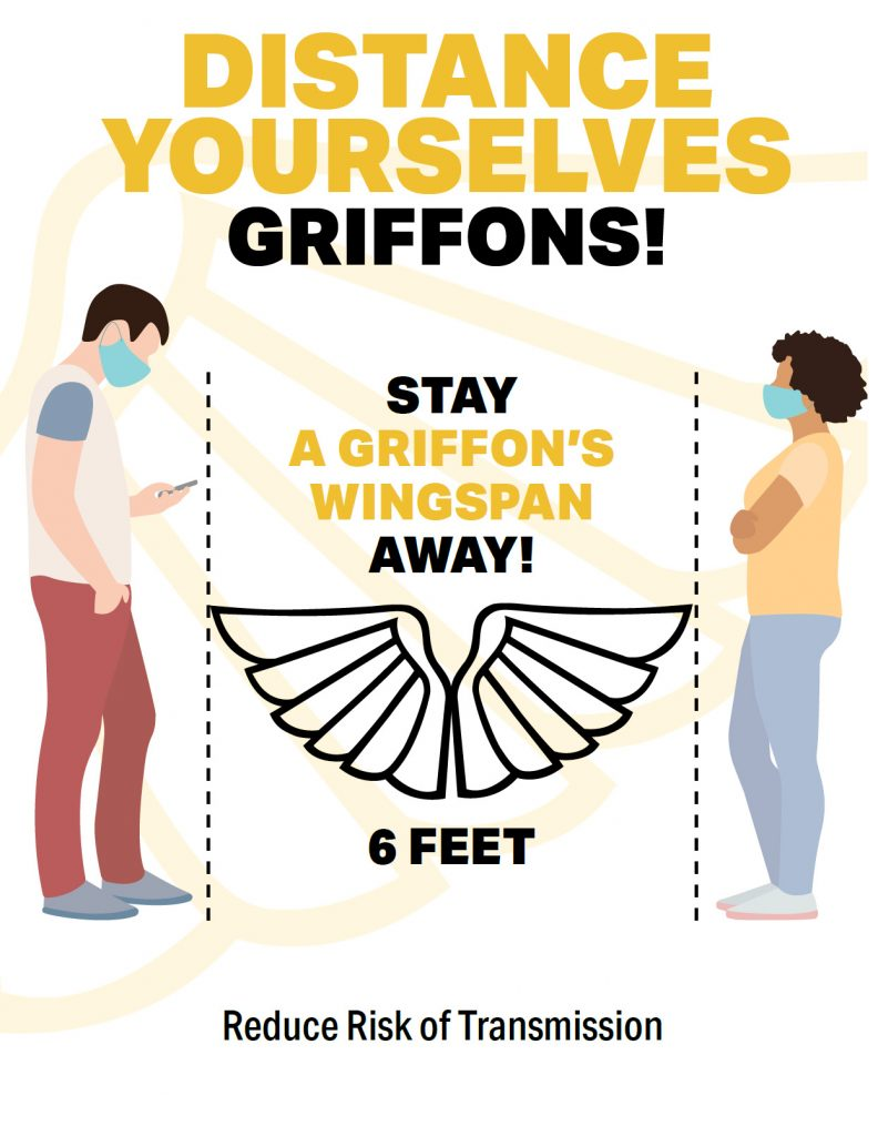 distance yourselves griffons. stay a griffon's wingspan away - 6 feet