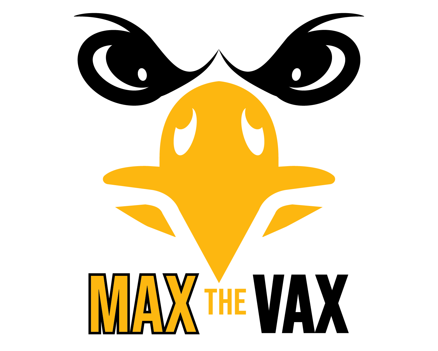 max the vax logo with a griffon's face