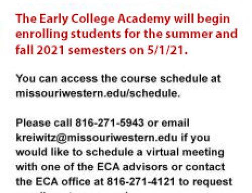 Summer & Fall 2021 Enrollment Opens 5/1