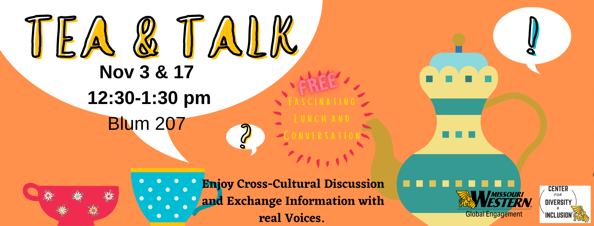 tea and talk event flyer