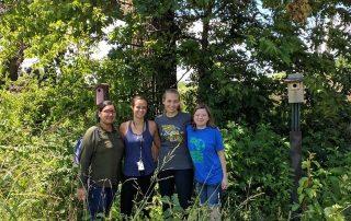 MWSU biology students - field work
