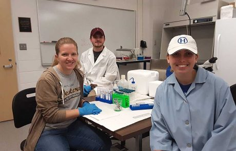 MWSU Biology students working in the lab
