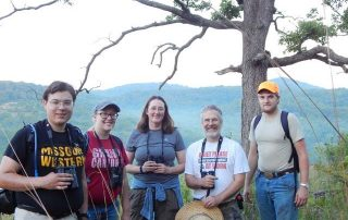 MWSU biology faculty and students - field work - Dr. Julie Jedlicka and Dr. Mark Mills