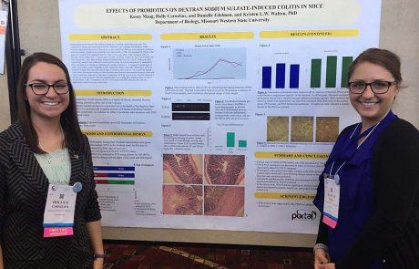MWSU biology students presenting research