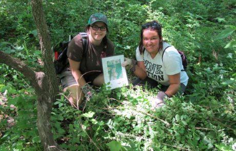 MWSU biology students - field research
