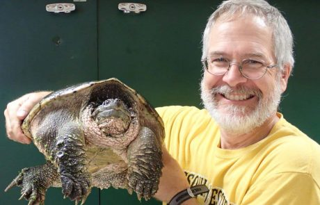 Dr. Mark Mills with turtle