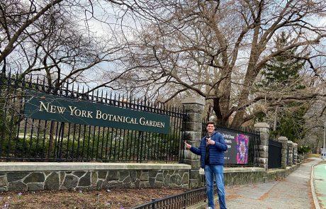 Shawn at the New York Botanical Garden