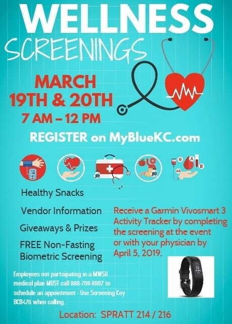 Wellness screening flyer