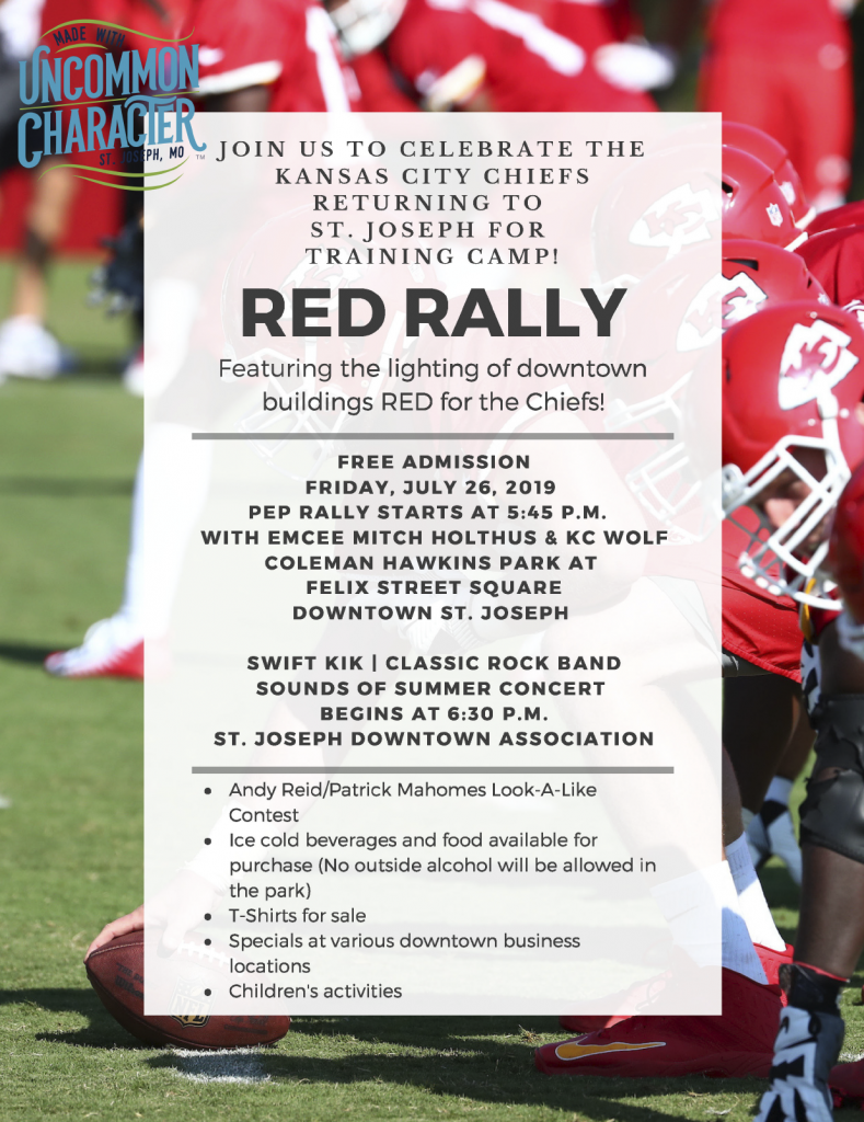 Red Rally- Coleman Hawkins Park | Downtown St. Joseph 5:45pm ... on usa map dallas cowboys, usa map history, usa map football,