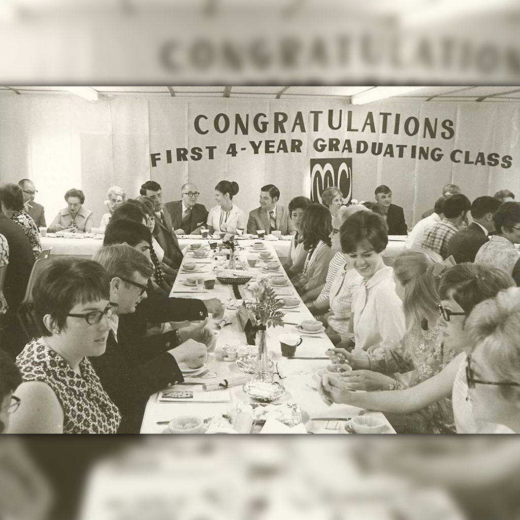 a banquet celebrating the first four year graduating class