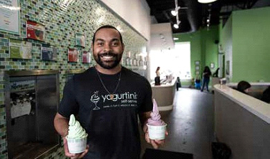 Isaac Collins yogurtini