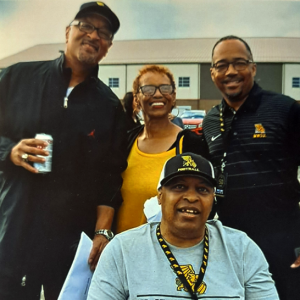 Rodney Stephenson, Connie Hoskins, Marc Lewis and Tim Hoskins posing for a photo