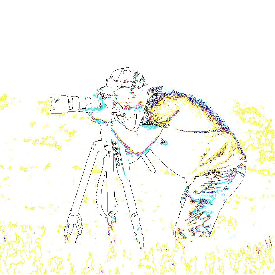 artisting rendering of a student looking through a camera
