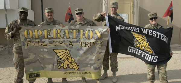 military members received the items donated for the 'pack the truck' challenge