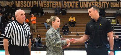 Military Appreciation basketball game at MWSU