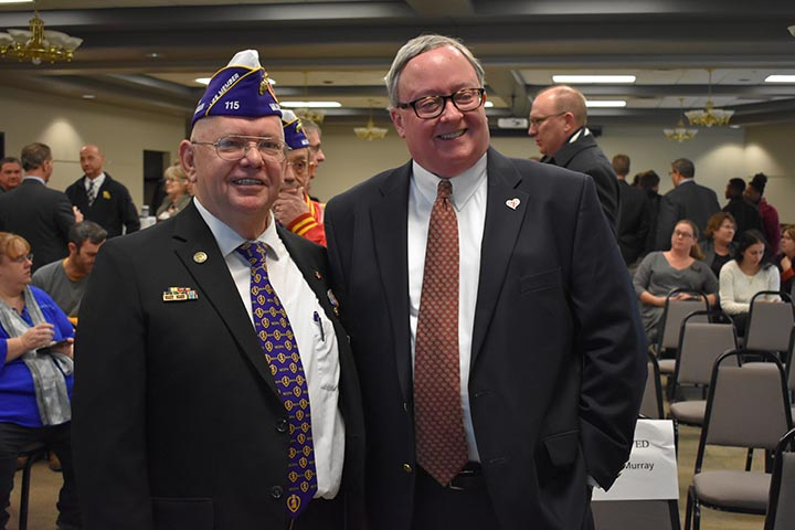 St. Joseph mayor attends the Purple Heart University Designation at Missouri Western State University