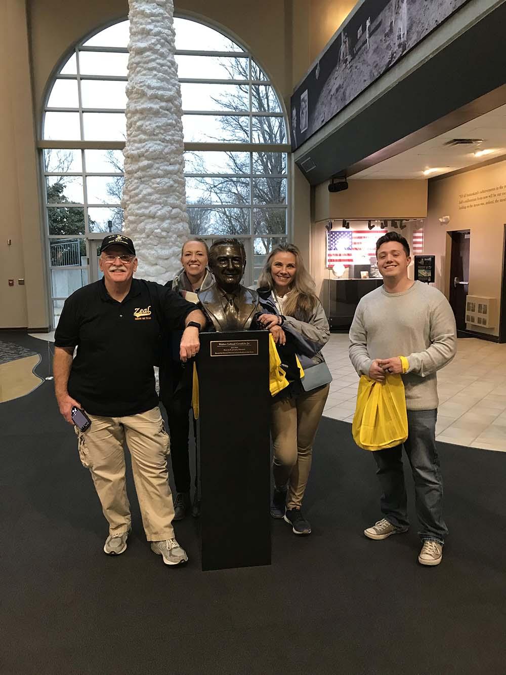 Veterans Upward Bound toured the Walter Cronkite Memorial at Missouri Western