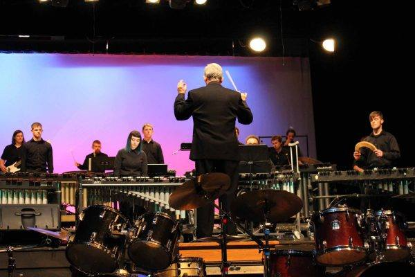 Percussion Ensemble performs
