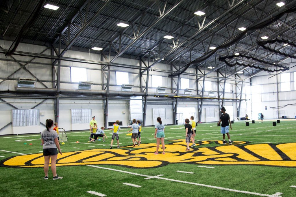 Lifetime Sports Academy students learn recreation skills in the Griffon Indoor Sports Complex
