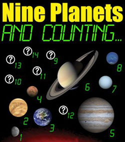 poster for Nine Planets and Counting