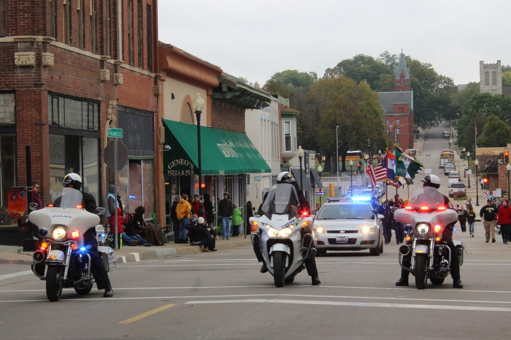 homecoming parade in downtown St. Joseph